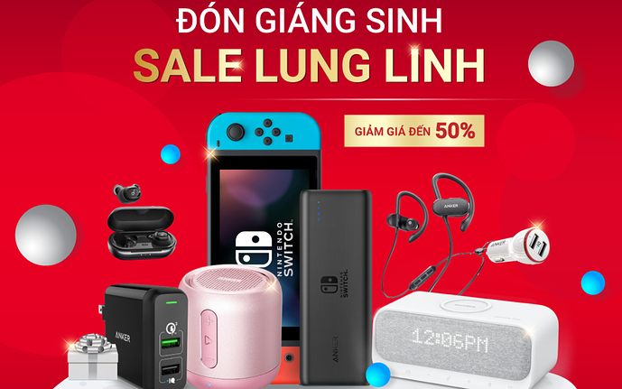 don giang sinh sale lung linh cung anker