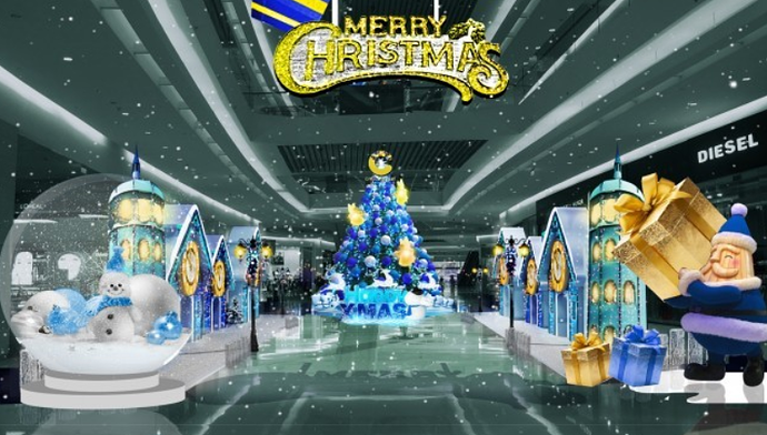 giáng sinh tại Crescent Mall