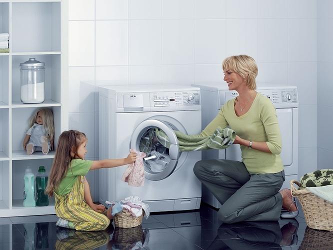 Máy giặt gia đình đón xuân