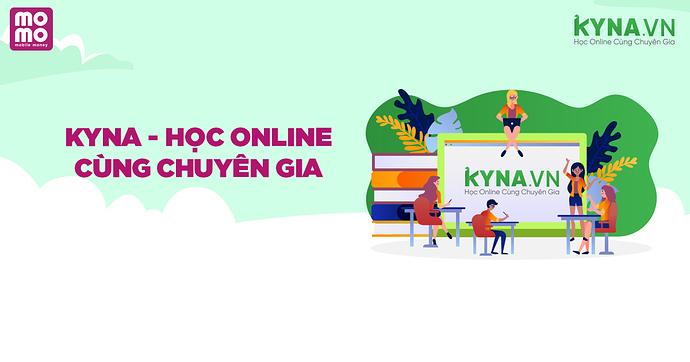 Hoàn ngay 30% khi đăng ký khóa học trực tuyến tại Kyna và dùng MoMo thanh toán