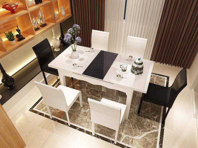 Bộ bàn ăn gia đình 6 người