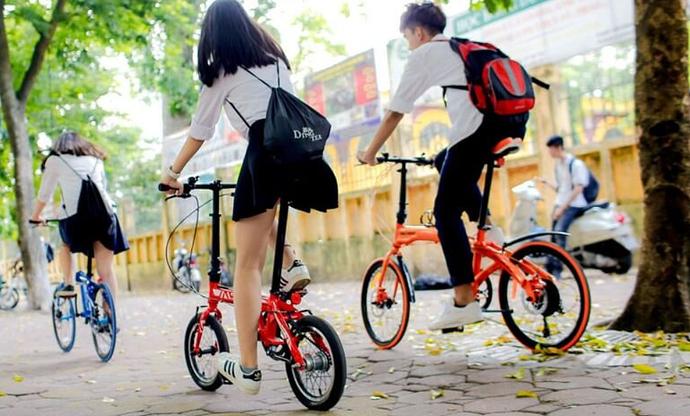 Đi xe đạp gấp