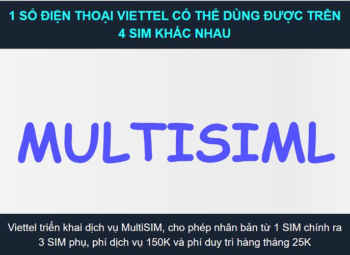 Tiện ích Multisim Viettel