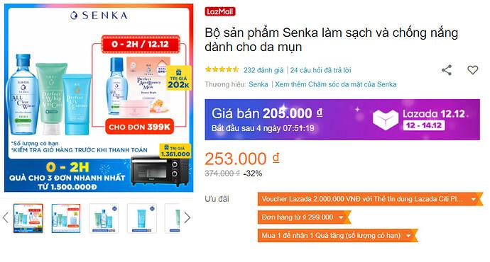 Bộ sản phẩm Senka làm sạch và chống nắng dành cho da mụn