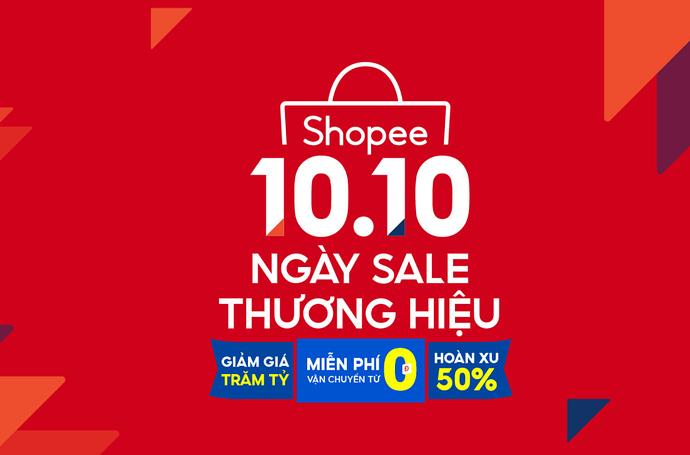 Shopee 10.10 - Ngày sale thương hiệu