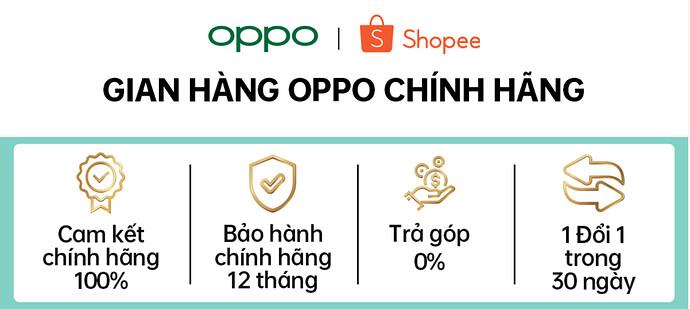 Gian hàng Oppo trên Shopee