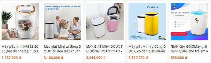 Giá máy giặt mini