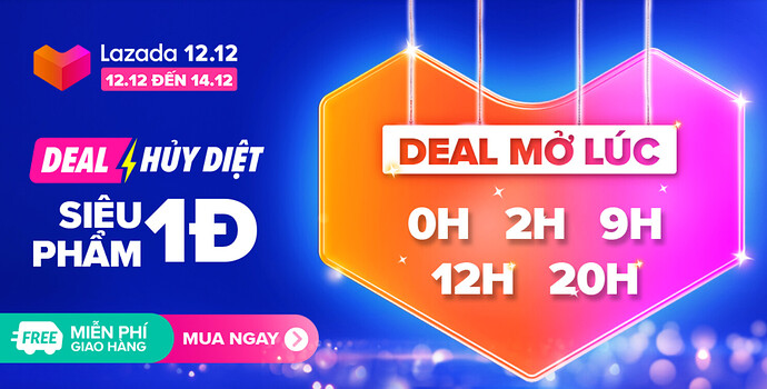 Lazada 12.12 - Flash Sale/ Crazy Flash Sale