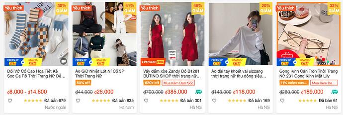Thời trang nữ giá tốt 2021