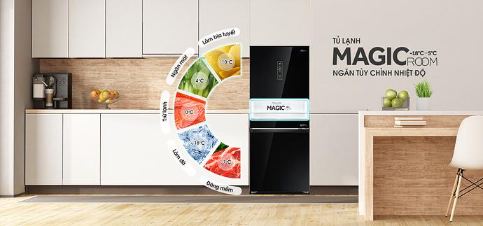 Tủ lạnh ngăn đá dưới với 2 cánh riêng biệt