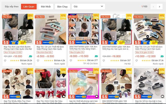 kep toc hot trend shopee 2021