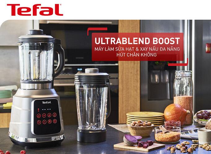 Máy làm sữa hạt, xay nấu đa năng 2 cối nóng và lạnh Tefal Ultra Blend Boost BL985A31