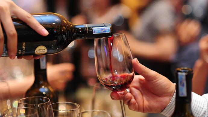 Ly uống rượu vang