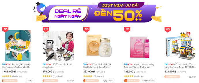 Deal rẻ ngất ngây