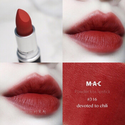 Mac Powder Kiss Lipstick - 316 Devoted To Chili
