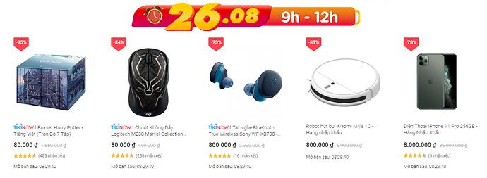 Flash Sale đồng giá