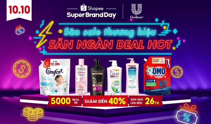 Ngày Sale thương hiệu - Shopee 10.10