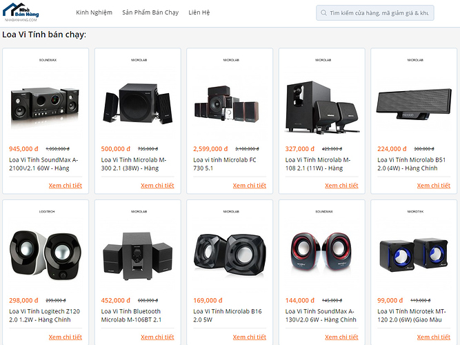 Top loa vi tính bán chạy trên Nhabanhang