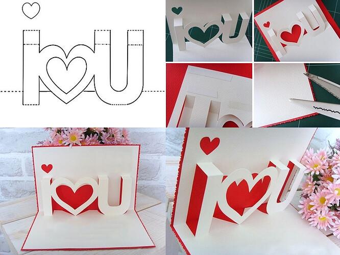 Thiệp Valentine vẽ trang trí