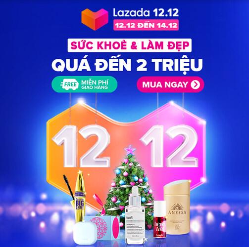 Lazada 12.12 Sale sức khỏe và làm đẹp