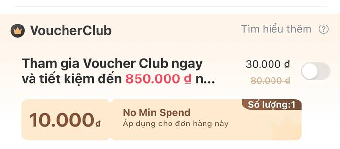 Voucher Club Lazada