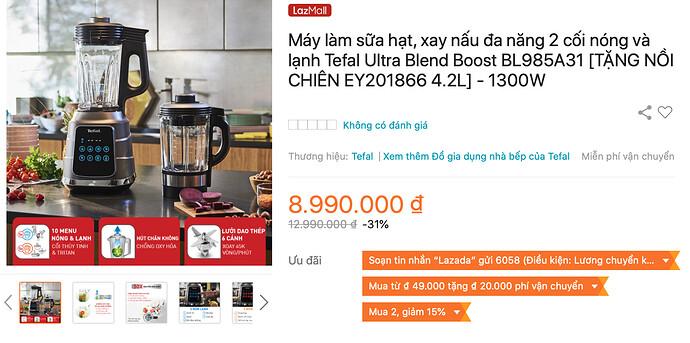 Tefal Ultra Blend Boost BL985A31