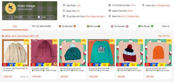 Shop bán Áo Hoodie, Sweater Shopee