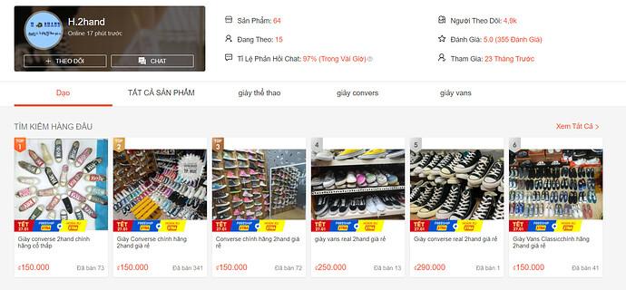 Shop bán giày si shopee