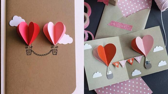 Thiệp Valentine 3D trái tim