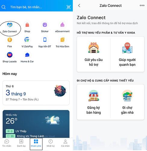 Zalo Connect