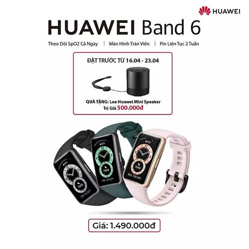 Ưu đăi đặt trước Huawei Band 6