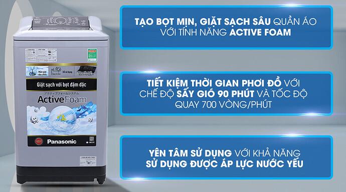 Máy giặt cửa trên Panasonic NA-F90A4GRV