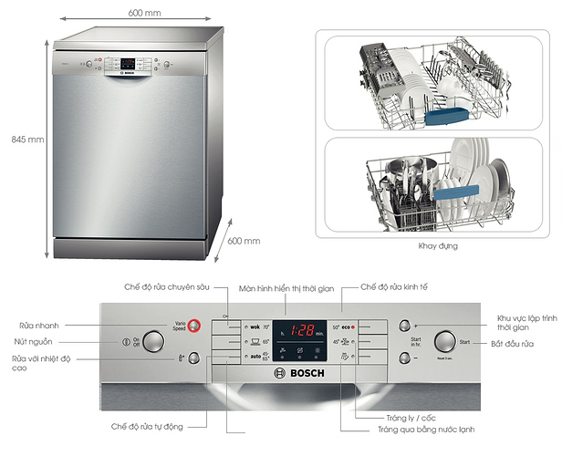 Máy rửa chén Bosch