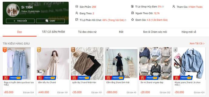 Shop bán Đầm, Váy xinh Shopee