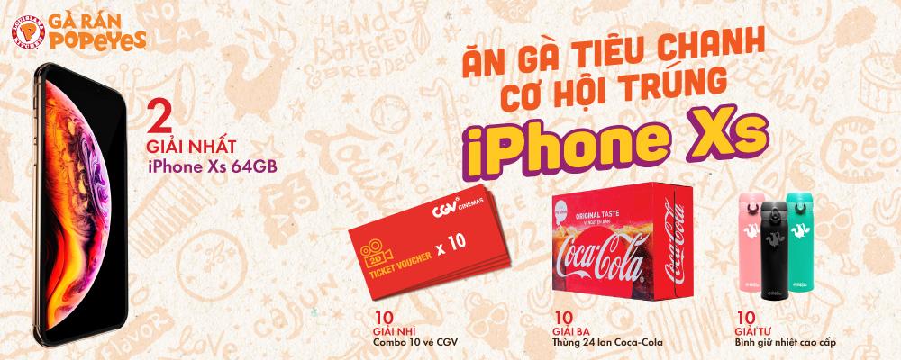 Ăn gà tiêu chanh - cơ hộI trúng iphone xs 64g