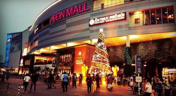 Trung tâm thương mại Aeon Mall Bình Tân bên ngoài
