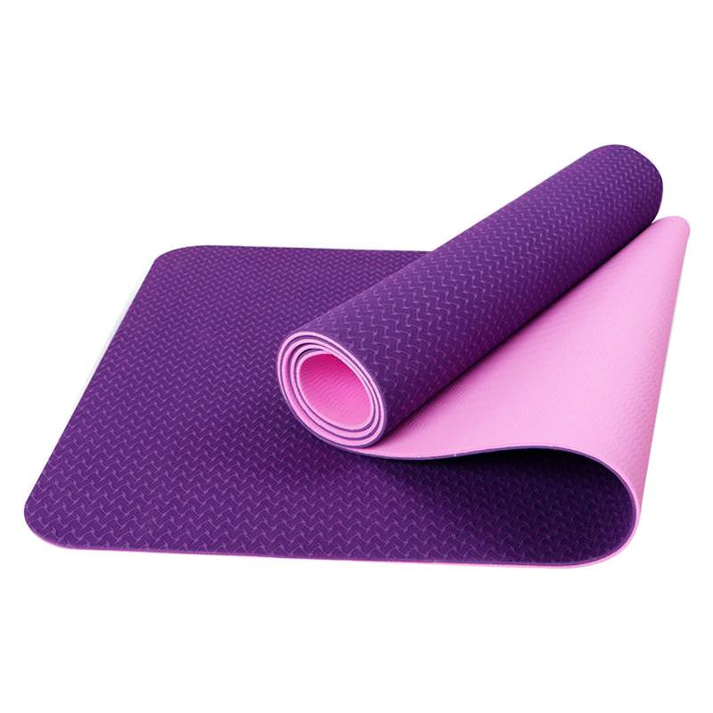 Thảm Tập Gym Và Yoga TPE 2 Lớp 6MM2L (6mm) - Tím