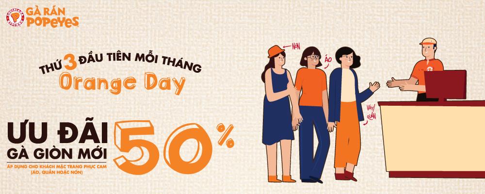 Orange day - ưu đãi 50% gà giòn mới