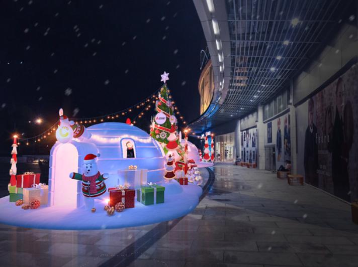 góc nhỏ thiên đường giáng sinh tại Crescent Mall