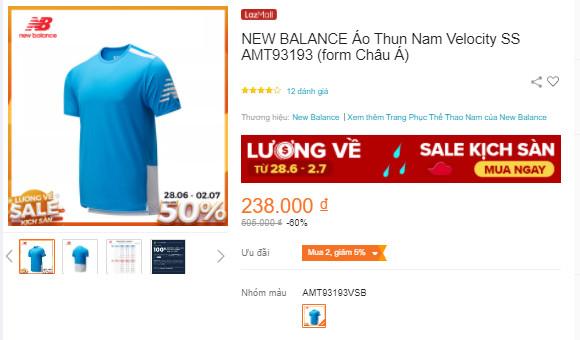 Áo thể thao nam NEW BALANCE Velocity SS T-Shirt AMT93193