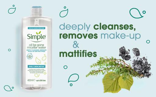 Nước tẩy trang Simple Daily Skin Detox Oil Be Gone dành cho da dầu nhờn