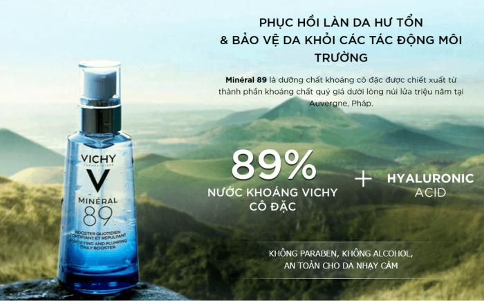 Thành phần Serum Vichy Mineral 89