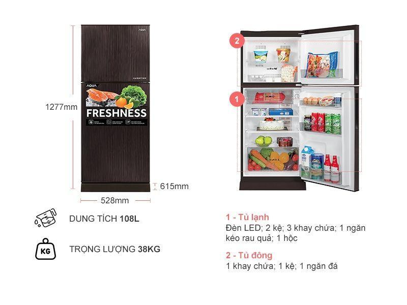 Tủ lạnh Aqua AQR-I190DN