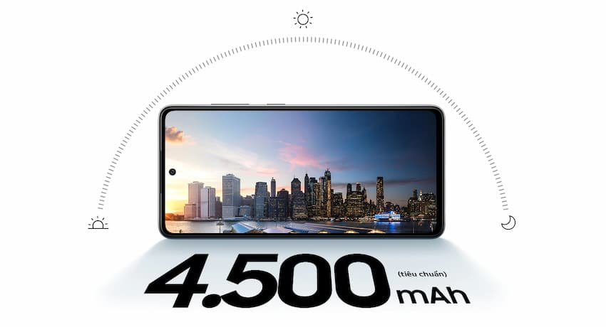 Thời lượng pin Galaxy A52 (samsung.com)