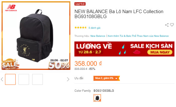 Balo nam NEW BALANCE LFC Collection Backpack BG93108GBLG