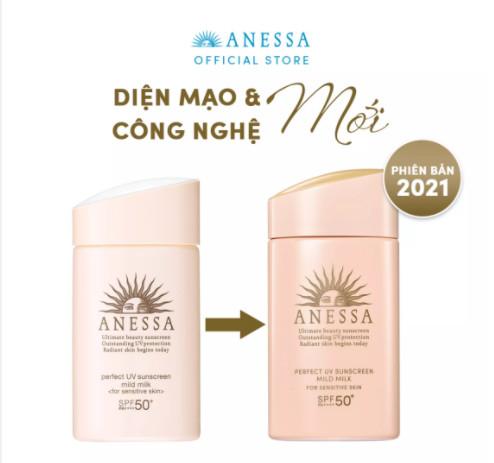 Kem chống nắng dạng sữa cho da nhạy cảm Anessa Perfect UV Sunscreen Mild Milk 60ml