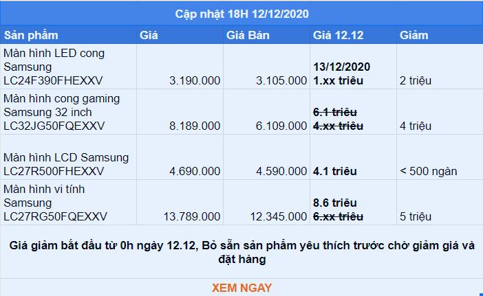 Màn hình máy tính Samsung Lazada 12.12