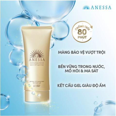 Kem chống nắng dạng Gel Anessa Perfect UV Sunscreen Skincare Gel 90g SPF 50+ PA++++