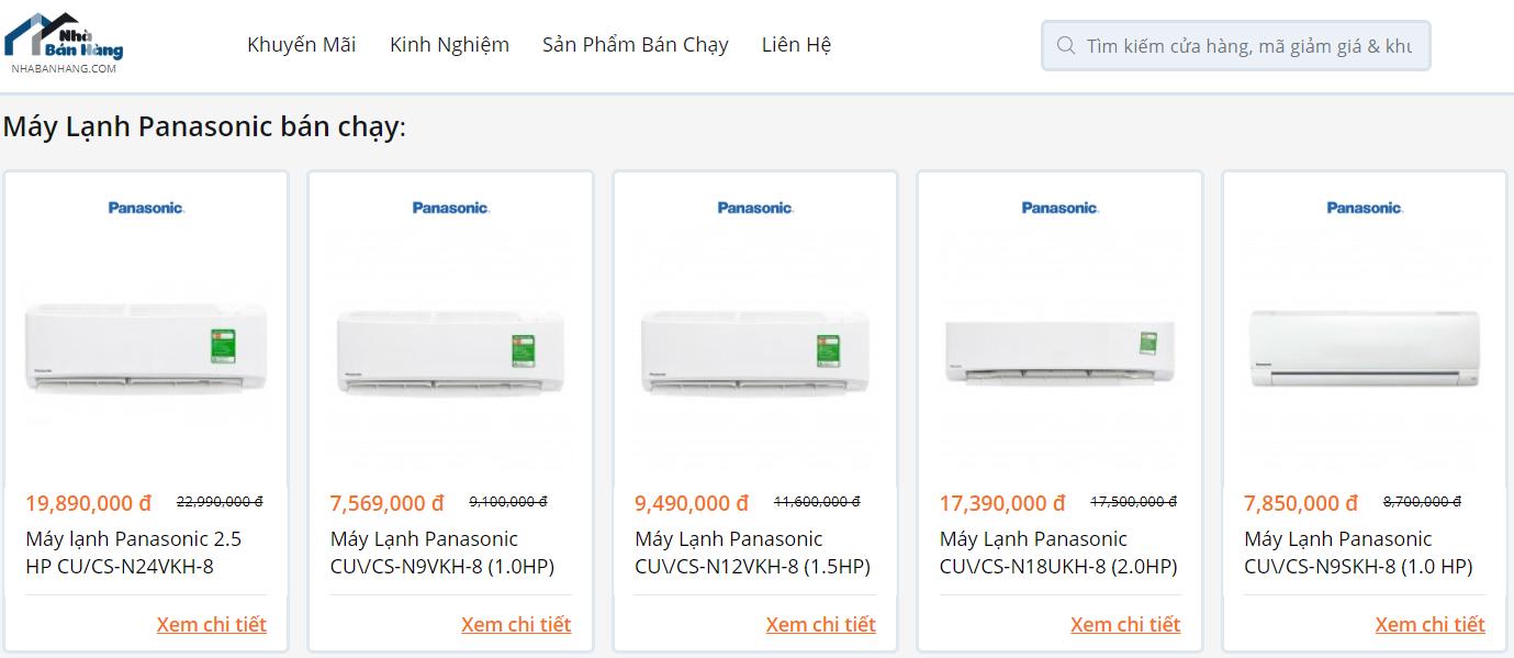 Máy lạnh Panasonic tai NhaBanHang