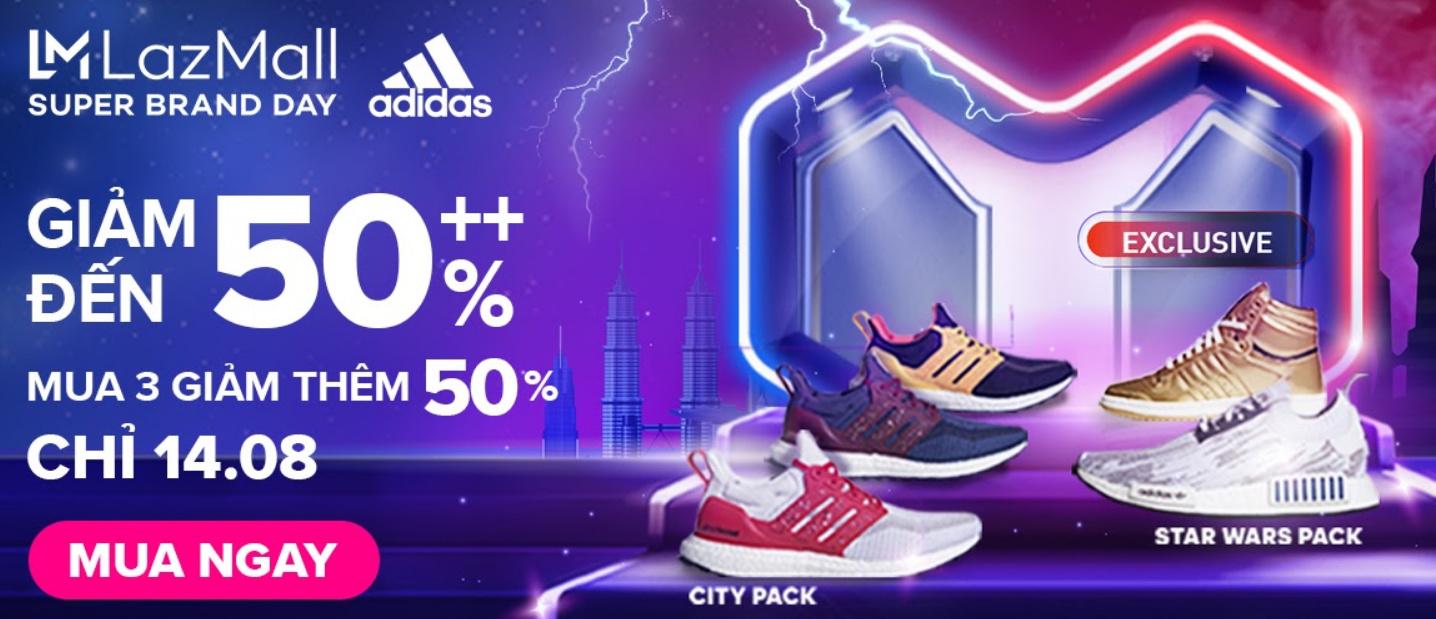 Adidas ưu đãi độc quyền duy nhất ngày 14.08
